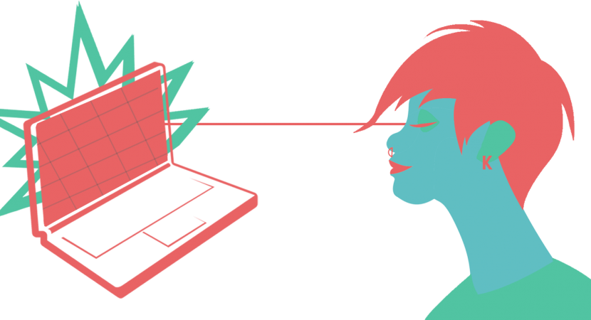 isolated woman computer5