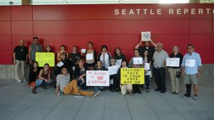 Yellowface protest in Seattle