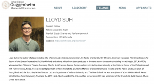 2020 Guggenheim Fellows Lloyd Suh